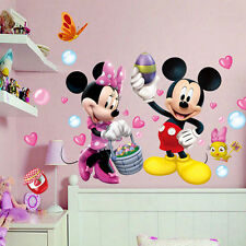 Cute Mickey Minnie Mouse Wall Sticker Vinyl Decals Kids Mural Baby Nursery Decor