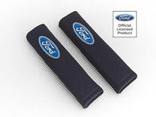 Ford Focus C-Max Seatbelt Pads Covers Black Fabric With Logo Pair By Richbrook