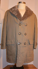 VTG 1960s DOUBLE BREASTED SEDGEFIELD/BLUE BELL PILE LINED CAR/STADIUM COAT! 40