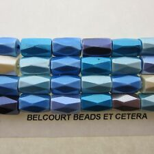 88 Beads Magnetic Hematite Faceted Beads Assorted Colors Ivory Blue Purple etc
