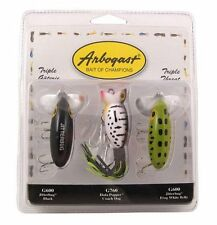 3 ARBOGAST PK3ARB2 Triple Threat Topwater Fishing Lures - Jitterbugs/Hula Popper