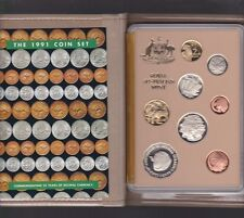 1991 Australia Proof Coin Set in Folder with outer Box & Certificate *