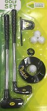 KIDS GOLF SET IRON,PUTTER,FLAG STICK & HOLE,TEE 4 PLASTIC GOLF BALLS TOY OUTDOOR