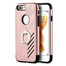 IPhone 7 Plus Rubber Defender Shockproof Stand PC Box Case Accessories Rose Gold