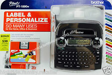 Brother Deluxe Label Maker Home Office PT-1890w, Two 12mm Tapes and AC Adapter