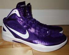 NIKE Zoom HYPERDUNK 2011 Flywire Club Purple/White Hightop Shoe SZ 18 MINT Cond.
