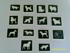 30 x dog themed stencils (mixed) for glitter tattoos  Alsatian chihuahua collie
