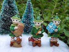 Miniature Dollhouse FAIRY GARDEN Figurine ~ North Pole CHRISTMAS Set of 3 Elves