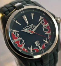 New Von Dutch AL99GR00PG Mens Green Forest Angel Swiss Date Watch
