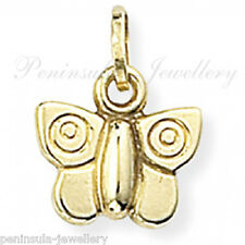 9ct Gold Butterfly bracelet Charm Gift Boxed