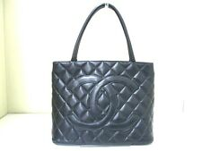 Authentic CHANEL Black Gold Hardware Caviar Medallion Tote Bag 5242874