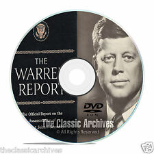 The Full Warren Commission Report, 26 Volumes, Who Killed JFK?, on PDF DVD F09