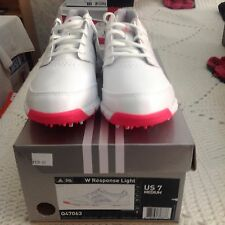 Adidas White/Pink W Response Light Womens Light Golf Shoe US Size 7 Shoes