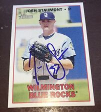 JOSH STAUMONT SIGNED 2016 Topps Heritage Minors Card Kansas City Royals