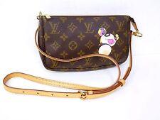 Auth Louis Vuitton Monogram Panda Accessories Pouch Pochette Shoulder Bag H887