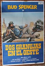 Used  Cartel de Cine  DOS GRANUJAS EN EL OESTE  Vintage Movie Film Poster  Usado