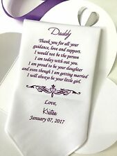 Printed Wedding Handkerchief Gifts For Father Of The Bride/HY1055