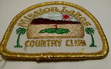 Mission Lakes Country Club Golf Course Embroidered Cloth Patch Badge Desert Hot