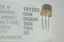 SGS 2N2846 Bipolar Junction Transistor NPN Type TO-5 New Lot Quantity-2
