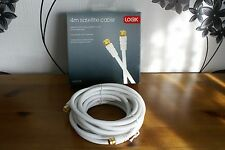 Logik L4SATC15 - 4m Satellite Cable Gold Plated F Connectors FREE UK POSTAGE