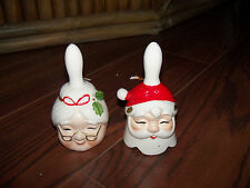 Lot of 2 Vintage Lego Japan Christmas Santa and Mrs Claus