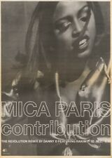 29/9/90 Pgn21 Advert: Mica Paris contribution A New Revolution Remix 15x11