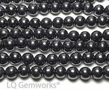 "15.5"" Strand RUSSIAN SHUNGITE 10mm Round Beads NATURAL"