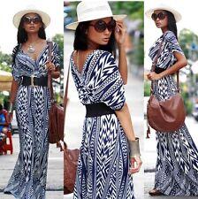 New Hot Women Summer Sundress Vintage Long Maxi Boho Beach Dress Evening Party