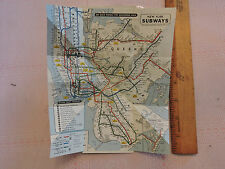 1967 ? New York City NY SUBWAY MAP MAP map OFFICIAL*  BROOKLYN Bronx in da house
