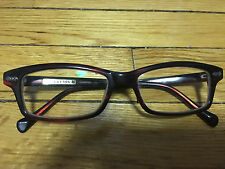 Womens Maroon Funky Western Style Glasses Frames by Lucky Brand