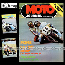 MOTO JOURNAL N°224 SIDE-CAR ROLF BILAND FIM 750 METTET PONS BARRY SHEENE 1975