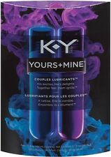 K-Y Yours + Mine Couples Lubricant Water Based Personal Lube New Adult Sexy