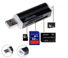 USB All in 1 Multi Memory Card Reader Adapter for Micro SD MMC SDHC TF M2