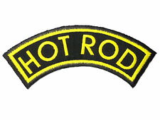 HOTROD Hot Rod Embroidered Rockabilly Kustom Street Racing Drag Iron On Patch