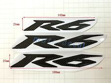 New R6 Carbon Firber Raised 3D Emblem Decal Tank Fairing Sticker Yamaha YZF-R6