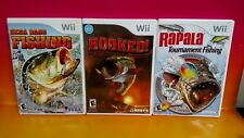 Rapala Tournament Fishing, Sega Bass, Hooked!  Nintendo Wii - Wii U 3 Fish Games