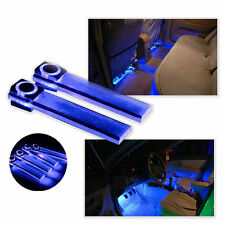 4pcs LED Car Interior Xmas Decorative Blue Light Bar With Cigarette Lighter Plug