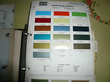 1970 AMC R-M Color Chip Paint Sample