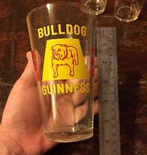 Rare 1930s Guinness Bull Dog Glass With King George Crown And Chinese Writing