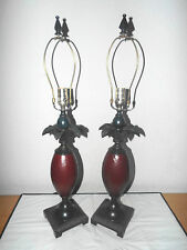 "LAMPS PAIR OF 30""H HOTEL STYLE CERAMIC AND METAL PINEAPPLE TABLE LAMP BEAUTIFUL"