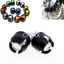 Silver Frame Crash Sliders Front Fork Protector Caps For YAMAHA R15 R25 BWS125