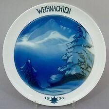 Rosenthal Weihnachtsteller 1926, Weihnacht im Gebirge Entw. Theo Schmuz-Baudiss