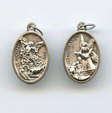 Medaille Erzengel Michael Schutzengel Engel Anhänger Neusilber 25 mm MED 3051
