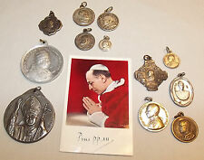 12 Papal Medals Pius X to John Paul II Holy Years Commemorative FREE Mini Card