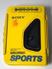 Vintage Sony Walkman Sports Cassette Player AM/FM Radio Yellow Works