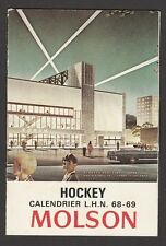 1968-69  MOLSON  HOCKEY SCHEDULE   NR-MT   NO CREASE