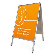 Premium Alu-Kundenstopper A1 Rondo / Plakataufsteller / Werbeständer wetterfest