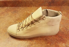 New! Balenciaga 'Arena' Beige Leather High Top Shoes Mens 13 US 46 Eur MSRP $665