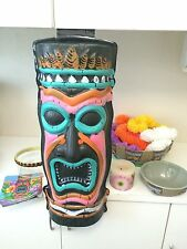 Hawaiian Luau Tiki TROPICAL PARTY LOT Decorations Bowls Candle Wall Hangings