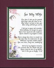 #79 Gift Present Poem for a wife anniversary 30th 40th 50th 60th Birthday